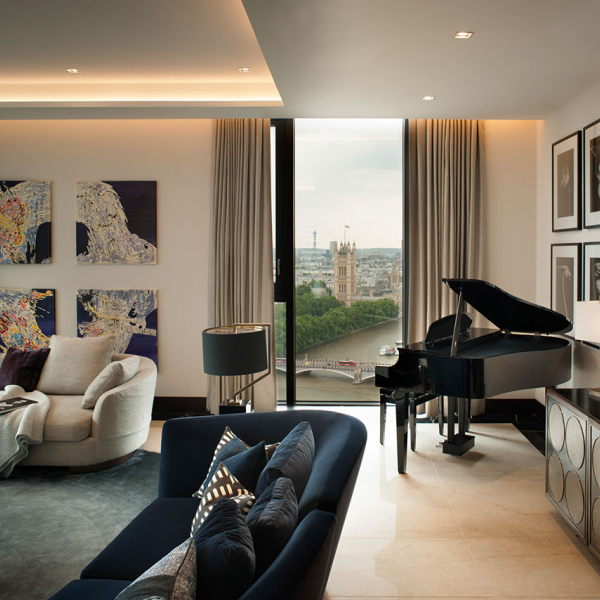 Formal Living Room Piano View